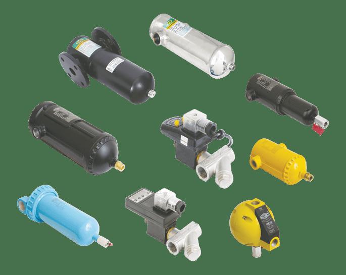 moisture separators, drain valves